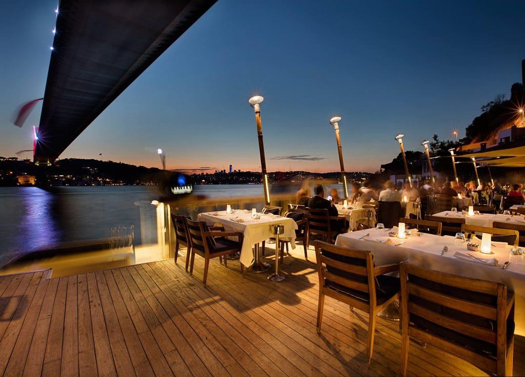 Bosphorus view from Lacivert restaurant