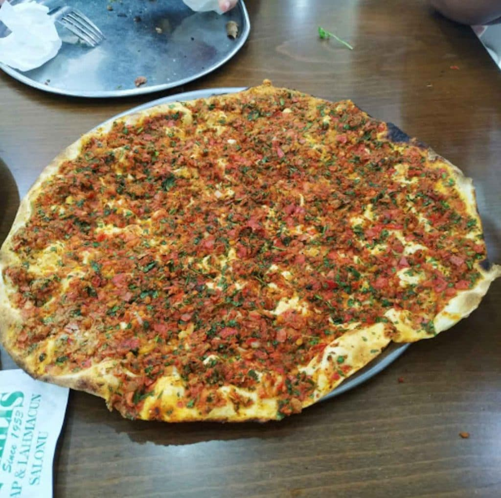 Lahmacun at Ozkilis restaurant