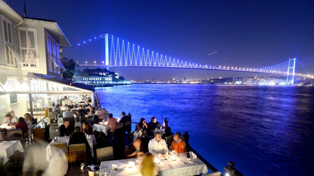 Bosphorus and Bosphorus bridge view from Villa Bosphorus Restaurant