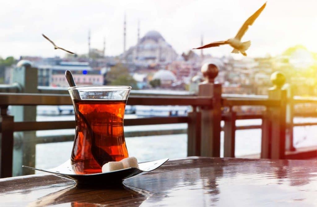 Turkish tea is by far the most popular drink in Turkey
